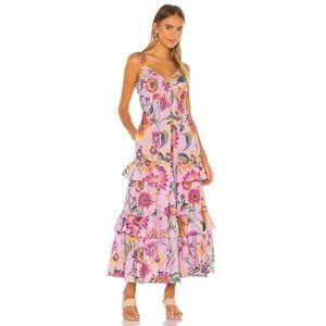 Banjanan Serafina floral tiered maxi dress